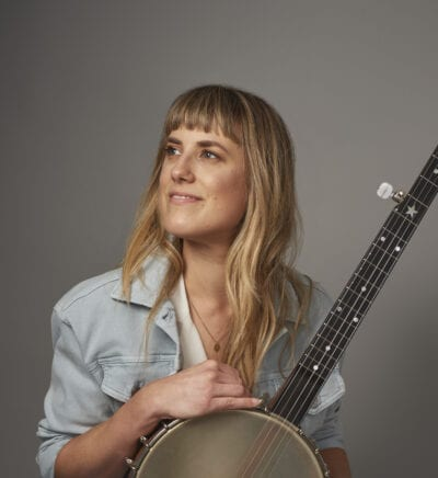 Hilary Hawke Banjo in blue